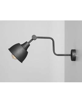 Kinkiet LAMPA ścienna FRIK BLACK 990C2 ALDEX na wysięgniku