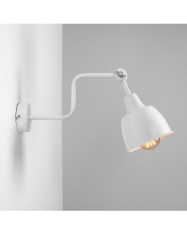 Kinkiet LAMPA ścienna nad łóżko FRIK WHITE 990C2 ALDEX na wysięgniku