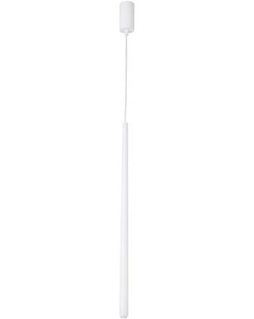 LAMPA wisząca SOPEL 1 STOŻEK 31155 SIGMA metalowa tuleja minimalistyczna ZWIS sopel spot tuba CYLINDER walec biały
