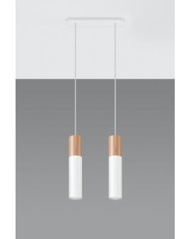 WYS. 24H! LAMPA wisząca BARELL 2/GU10/60mm/BI metalowa OPRAWA skandynawska ZWIS sopel tuba spot laser wood biała