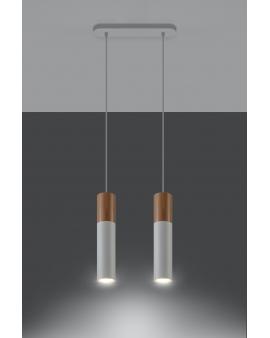 LAMPA wisząca BARELL2/GU10/60mm/BI metalowa OPRAWA skandynawska ZWIS sopel tuba spot laser wood biała