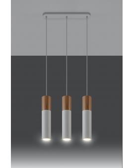 LAMPA wisząca BARELL3/GU10/60mm/BI metalowa OPRAWA skandynawska ZWIS sopel tuba spot laser wood biała