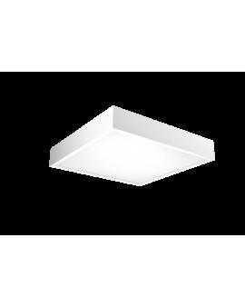 Nowoczesny Plafon LED LAMPA sufitowa CANTE 47cmx47cm 36W 4000K 3000lm kwadratowy OPRAWA drewniana natynkowa biały