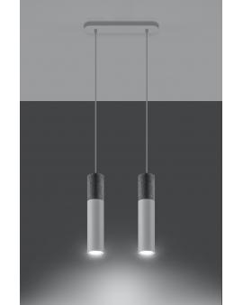 LAMPA wisząca BARELL 2/GU10/60mm/BI metalowa betonowa