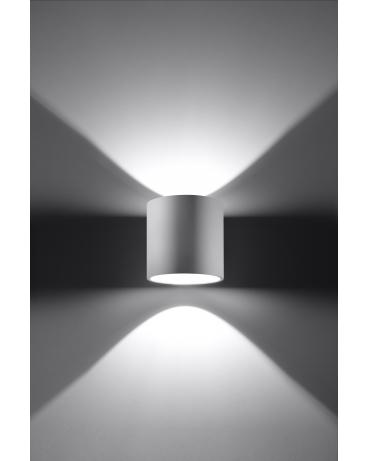 NOWOCZESNA LAMPA KINKIET DOWNLIGHT PLUTON 1XG9 BIAŁY