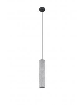 LAMPA wisząca BARELL 1/GU10/60mm/BE metalowy betonowy OPRAWA skandynawska ZWIS sopel tuba spot laser beton czarna