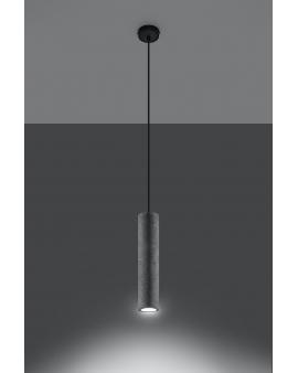 WYS. 24H! LAMPA wisząca BARELL 1/GU10/60mm/BE metalowy betonowy OPRAWA skandynawska ZWIS sopel tuba spot laser beton czarna