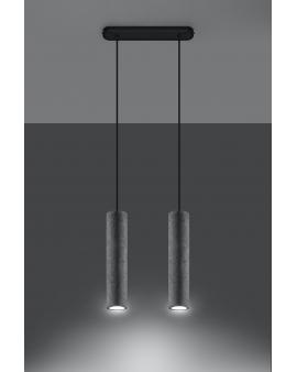 WYS. 24H! LAMPA wisząca BARELL 2/GU10/60mm/BET betonowy OPRAWA skandynawska ZWIS sopel tuba spot laser beton szary