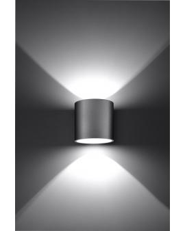 NOWOCZESNA LAMPA KINKIET DOWNLIGHT PLUTON 1XG9 SZARY