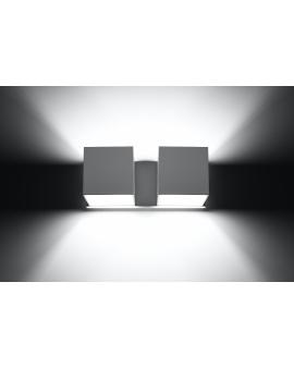 Kinkiet LAMPA ścienna NEPTUN 2 OPRAWA metalowa KWADRAT SPOT KOSTKA korytko dyskretne światło góra/dół czarny