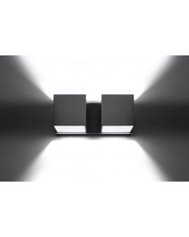WYS. 24H! Kinkiet LAMPA ścienna NEPTUN 2 OPRAWA metalowa KWADRAT SPOT KOSTKA korytko dyskretne światło góra/dół biały