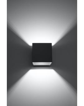Kinkiet LAMPA ścienna NEPTUN OPRAWA metalowa KWADRAT SPOT KOSTKA korytko dyskretne światło góra/dół antracyt