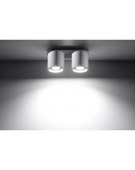 Plafon PLUTON 2pł biały