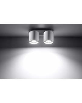 Plafon ORBIS 2pł biały