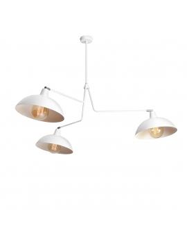 Skandynawska LAMPA ESPACE 3 biały 1036E ALDEX oryginalna sztyca kije oprawa minimalistyczna na wysięgniku