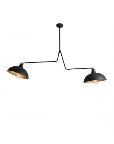 Skandynawska LAMPA ESPACE 2 czarny/złoty 1036H1 ALDEX oryginalna sztyca kije oprawa minimalistyczna na wysięgniku