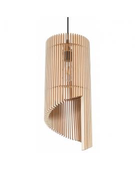 WYS 24H! Nowoczesny żyarndol E27 LAMPA zwis drewniany abażur OPRAWA przewód czarny