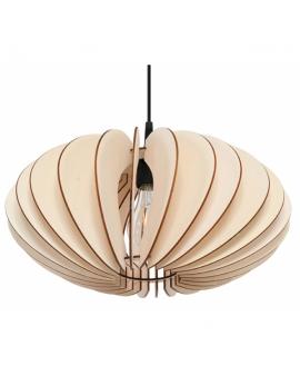 WYS 24H! Nowoczesny żyarndol VASE E27 LAMPA zwis drewniany abażur OPRAWA przewód czarny