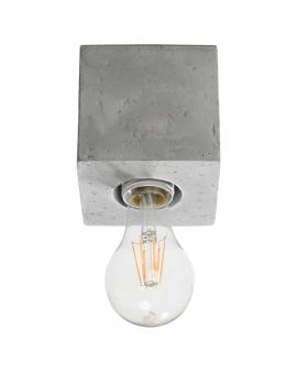 WYS. 24H! LAMPA sufitowa NEPTUN E27 natynkowa minimalistyczna KWADRAT beton