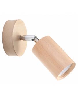 LAMPA ścienna/sufitowa SCANDI 1xGU10 drewno reflektor OPRAWA regulowana spot