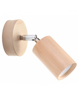 LAMPA ścienna/sufitowa BERGE 1xGU10 drewno reflektor OPRAWA regulowana spot