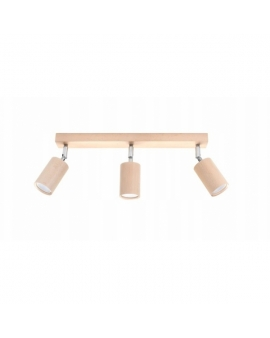 LAMPA ścienna/sufitowa SCANDI 3xGU10 drewno reflektor OPRAWA regulowana spot