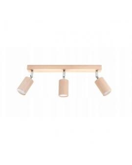 LAMPA ścienna/sufitowa BERGE 3xGU10 drewno reflektor OPRAWA regulowana spot