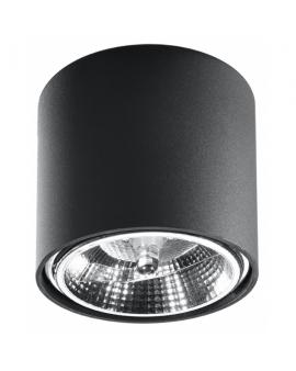 WYS. 24H! Downlight LAMPA sufitowa okrągła PLUTON GU10 (AR111) minimalistyczna CYLINDER metalowa spot WALEC tuba KOŁO czarny