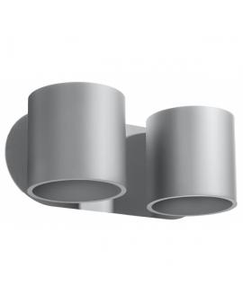 Kinkiet LAMPA ścienna ORBIS 2 minimalistyczna OPRAWA okrągła CYLINDER z dwukierunkowym źródłem światła TUBA czarna