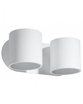 Kinkiet LAMPA ścienna PLUTON minimalistyczna OPRAWA okrągła CYLINDER z dwukierunkowym źródłem światła TUBA biała