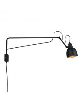 LAMPA Kinkiet SOHO DUŻY 1 1002C1/D ALDEX ścienna z przewodem zasilającym regulowane ramię czarny