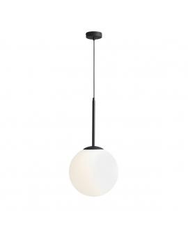 LAMPA wisząca modernistyczna mleczne kule BALIA 1 ALDEX loftowa molekuły glass bubble metalowe pręty szklane kule zwis czarny