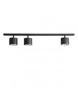 LAMPA sufitowa TUBY 1047PL/E BOT 3xGU10 ALDEX czarna REGULOWANE reflektory przeguby szyna LISTWA do garderoby
