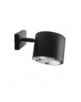 Kinkiet LAMPA ścienna 1047C BOT 1xGU10 ALDEX czarna reflektorek MINIMALISTYCZNA oprawa spot TUBA czarna