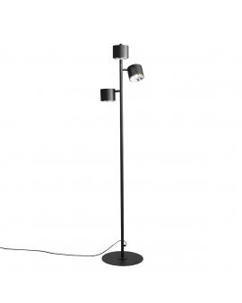 LAMPA podłogowa BOT 3xGU10 1047A ALDEX reflektorowa OPRAWA stojąca metalowe tuby reflektorki industrialne czarna
