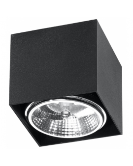 LAMPA sufitowa NEPTUN GU10 (AR111) natynkowa DOWNLIGHT metalowa minimalistyczna KWADRAT SPOT czarny