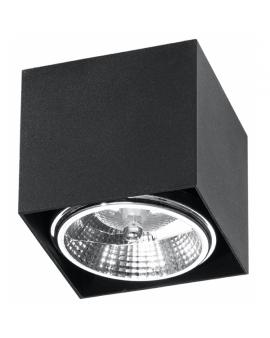LAMPA sufitowa FLEA GU10 (AR111) natynkowa DOWNLIGHT metalowa minimalistyczna KWADRAT SPOT czarny