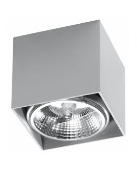 LAMPA sufitowa BLAKE GU10 (AR111) natynkowa DOWNLIGHT metalowa minimalistyczna KWADRAT SPOT szary