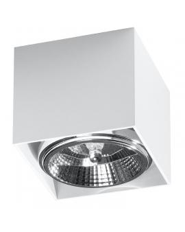 LAMPA sufitowa BLAKE GU10 (AR111) natynkowa DOWNLIGHT metalowa minimalistyczna KWADRAT SPOT biały