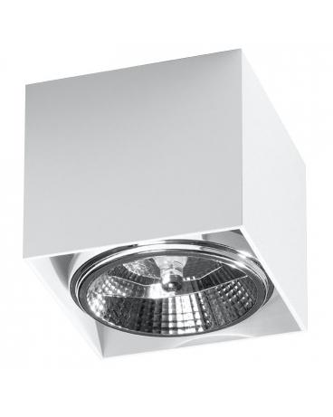 LAMPA sufitowa NEPTUN GU10 (AR111) natynkowa DOWNLIGHT metalowa minimalistyczna KWADRAT SPOT biały