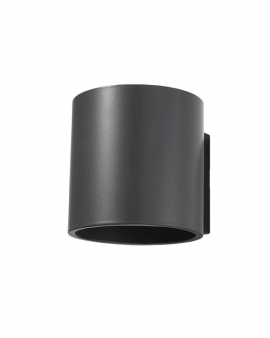 Kinkiet LAMPA ścienna ORBIS minimalistyczna OPRAWA okrągła dyskretne światło GÓRA-DÓŁ TUBA koło ANTRACYT