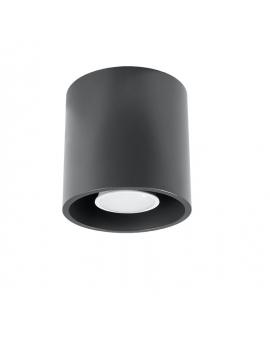 Downlight LAMPA sufitowa plafon okrągła ORBIS minimalistyczna CYLINDER metalowa spot WALEC tuba KOŁO antracyt