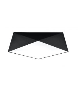 WYS 24H! Nowoczesny Plafon LAMPA sufitowa SQUARE TALL 45cm 3xE27 kwadratowy OPRAWA natynkowa ABAŻUR czarny