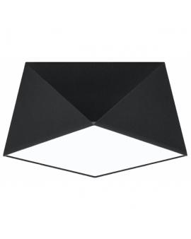 WYS 24H! Nowoczesny Plafon LAMPA sufitowa SQUARE TALL 25cm E27 kwadratowy OPRAWA natynkowa ABAŻUR czarny
