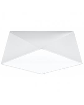 WYS 24H! Nowoczesny Plafon LAMPA sufitowa SQUARE TALL 35cm 2xE27 kwadratowy OPRAWA natynkowa ABAŻUR biały