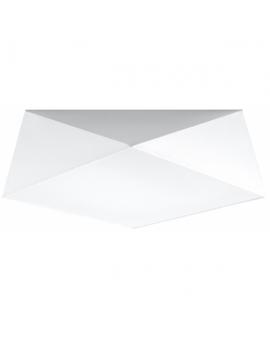 WYS 24H! Nowoczesny Plafon LAMPA sufitowa SQUARE TALL 45cm 3xE27 kwadratowy OPRAWA natynkowa ABAŻUR biały