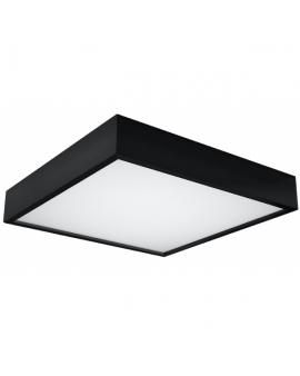 Nowoczesny Plafon LED LAMPA sufitowa CANTE 47cmx47cm 36W 4000K 3000lm kwadratowy OPRAWA drewniana natynkowa czarny