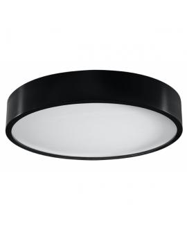 Nowoczesny Plafon LED LAMPA sufitowa PLATINIUM Ø47cm 36W 4000K 3000lm okrągła OPRAWA drewniana natynkowa czarny