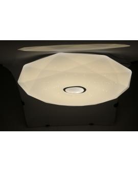 Okrągła LAMPA sufitowa plafoniera LED POL 80W 76cm sterowana pilotem 3000K-6500K natynkowy ściemniacz biały