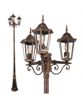 Klasyczna Lampa ogrodowa VERTICAL Zewnętrzna stojąca wys. 250 cm LATARNIA patyna
